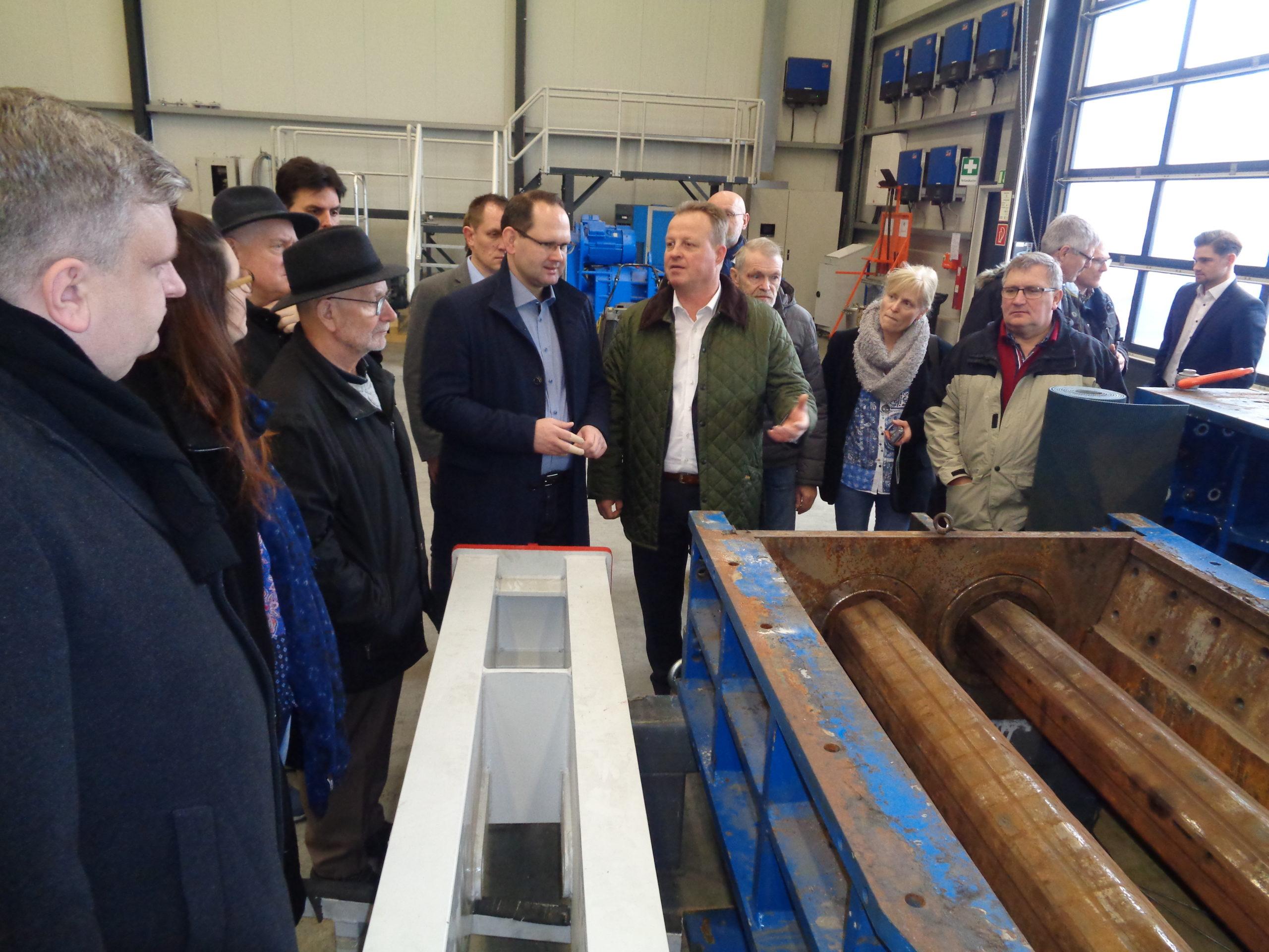 Die CSU Zu Besuch Bei Der Firma URT Umwelt- Und Recyclingtechnik GmbH