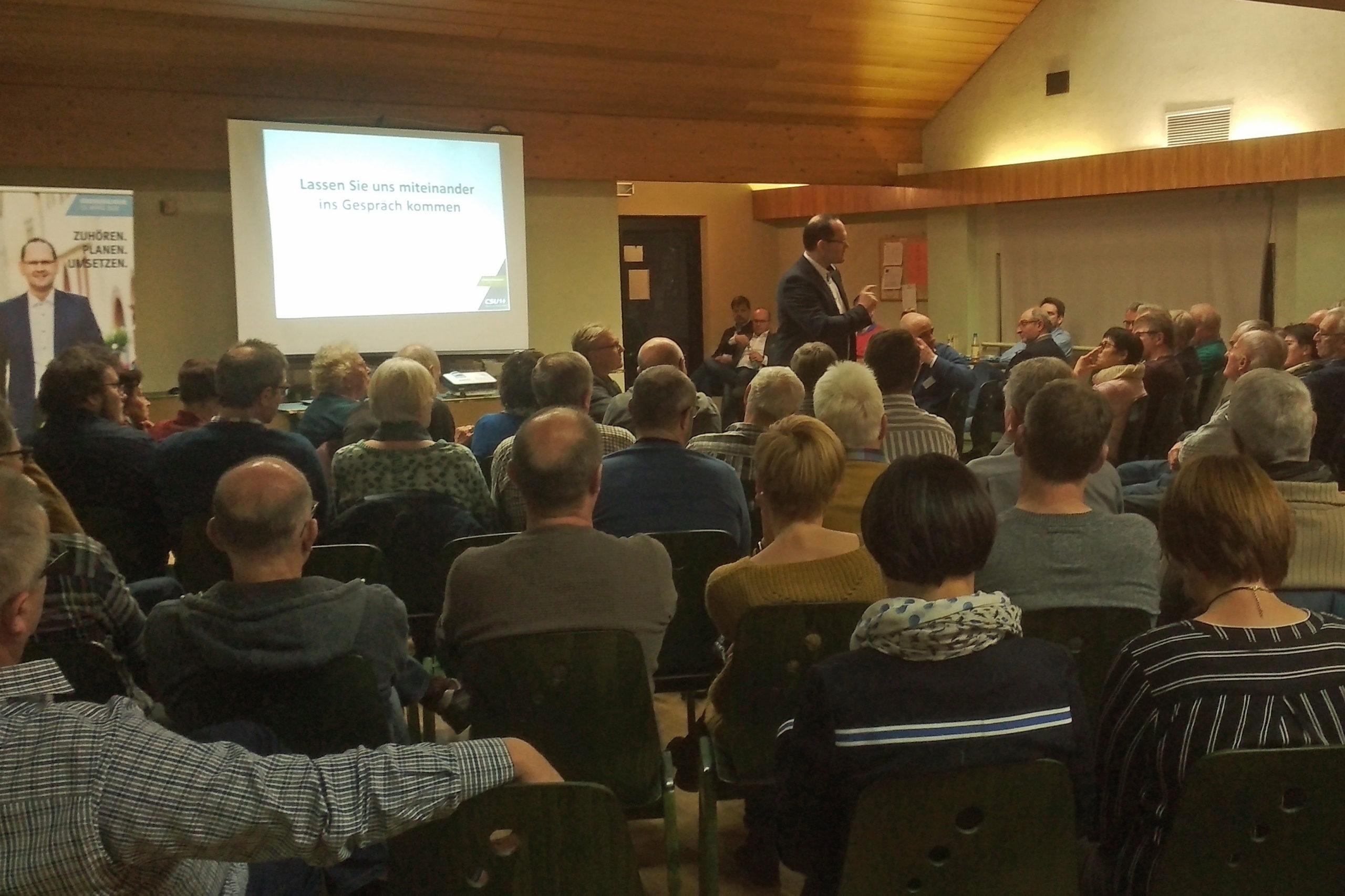 Bürgerdialoge Der CSU In Stetten Und Karlburg