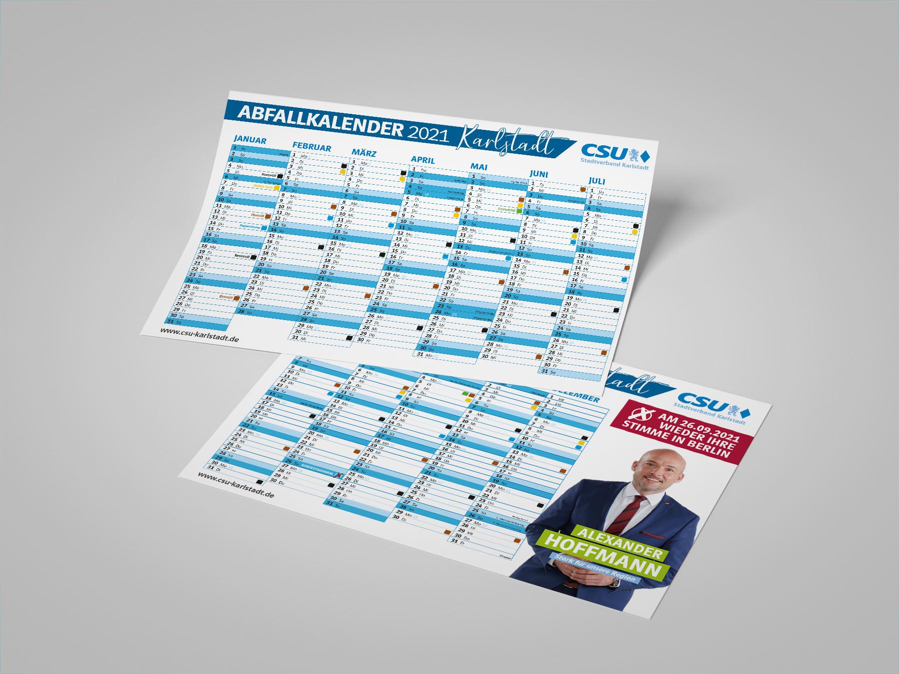 Abfallkalender Für Die Karlstadter Haushalte